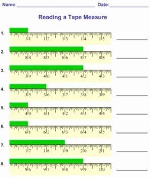 Reading A Tape Measure Worksheet Beautiful Reading Measuring A Tape Measure Worksheets by Mathnook