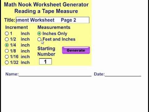 Reading A Tape Measure Worksheet Best Of Reading A Tape Measure Worksheet Generator
