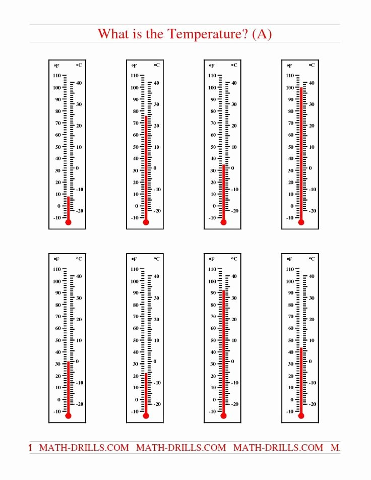 Reading A thermometer Worksheet Awesome Reading Temperatures On A thermometer A