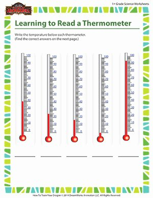 Reading A thermometer Worksheet Best Of Learning to Read A thermometer 1st Grade Kids Science sod