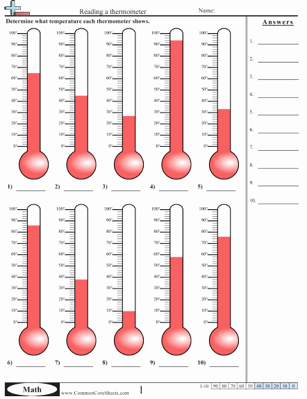 Reading A thermometer Worksheet Best Of Temperature Worksheets