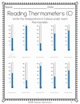 Reading A thermometer Worksheet Elegant Reading thermometers Worksheet by Teacher Gameroom