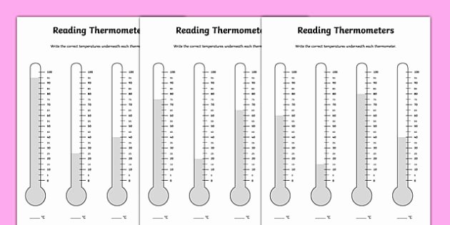 Reading A thermometer Worksheet Inspirational Reading Temperature thermometers Worksheet Twinkl