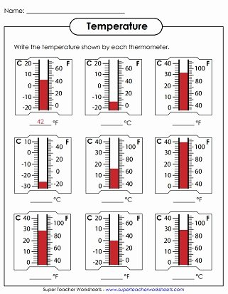 Reading A thermometer Worksheet Lovely Temperature Worksheets Reading thermometers