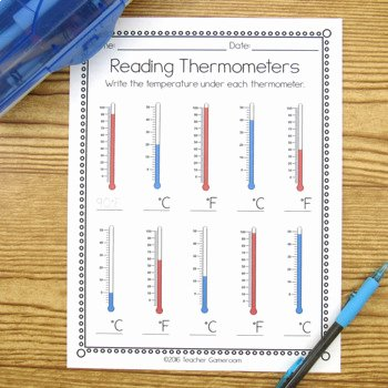 Reading A thermometer Worksheet Luxury Reading thermometers Worksheet by Teacher Gameroom