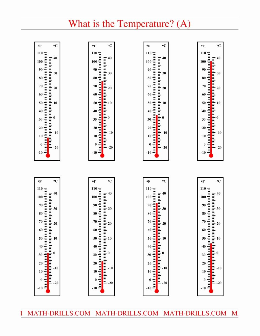 Reading A thermometer Worksheet New Reading Temperatures On A thermometer A