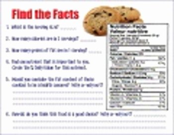 Reading Food Label Worksheet Elegant Analyzing A Nutrition Label Worksheet by Mspowerpoint
