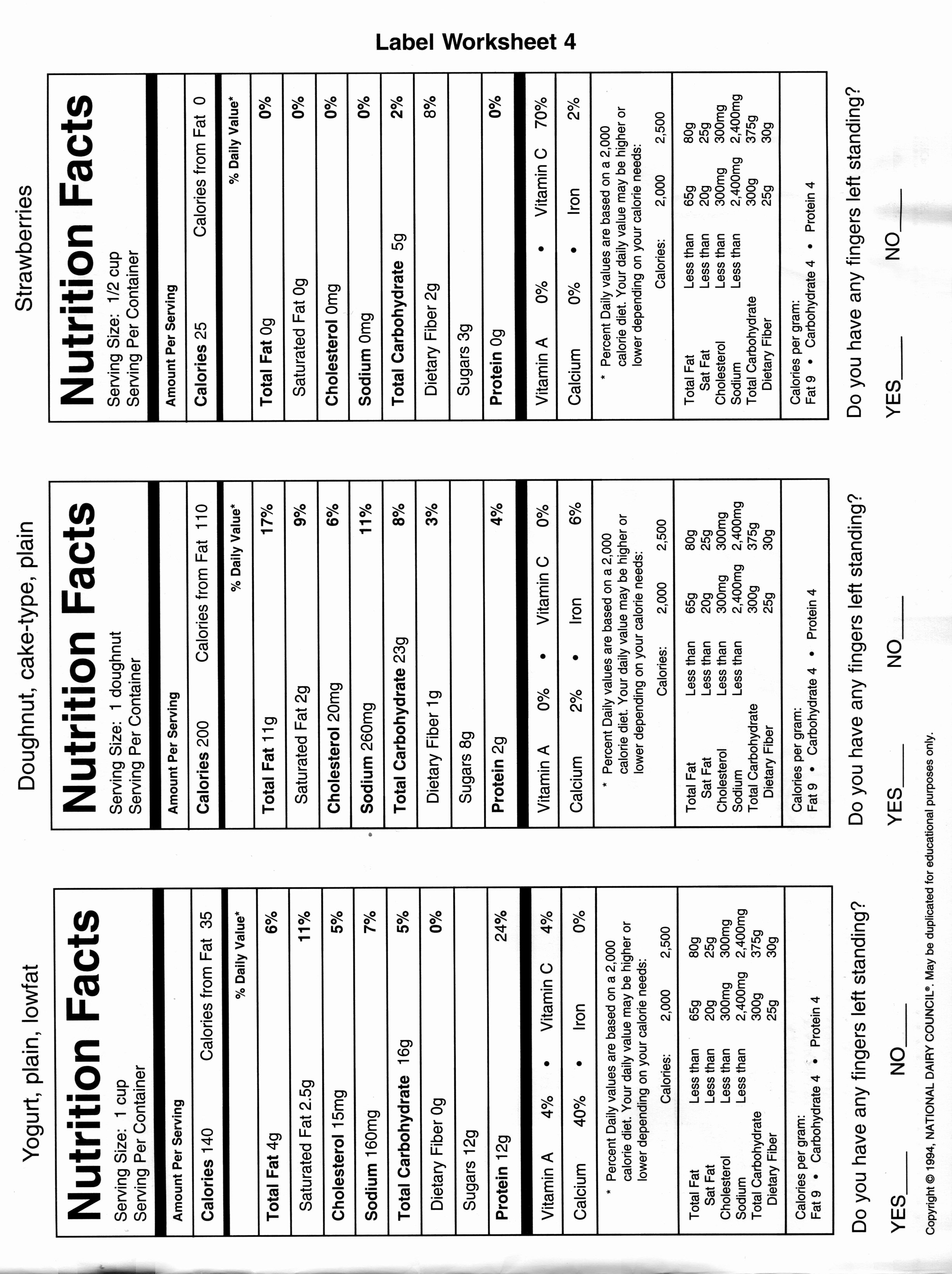 Reading Food Label Worksheet Fresh 15 Best Of Diet Worksheets In Pdf Blank Nutrition