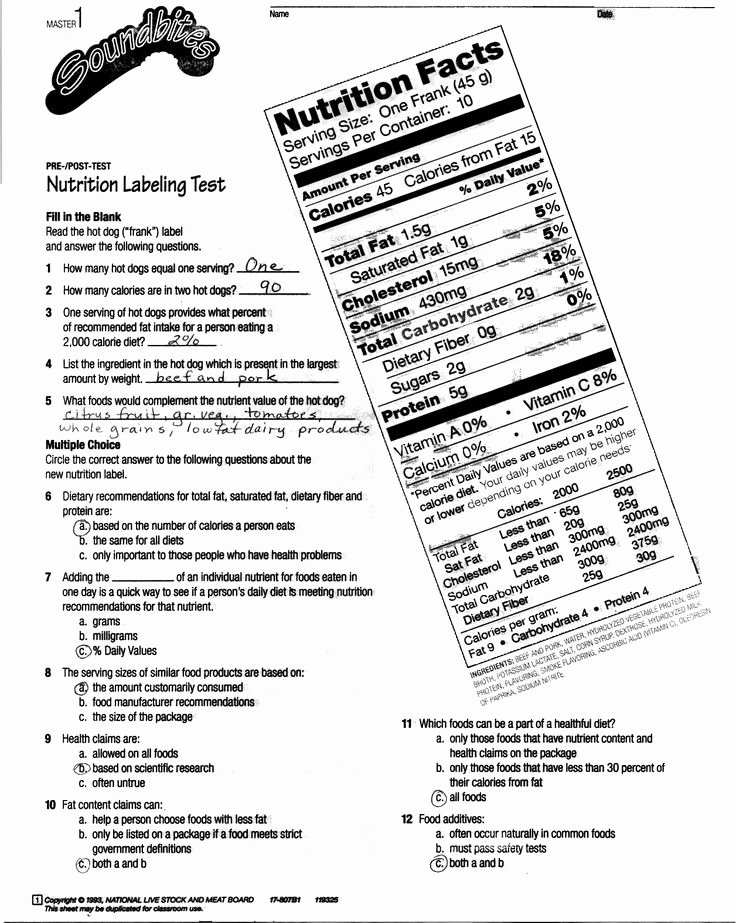 Reading Food Label Worksheet New Image Result for Worksheet On Labels