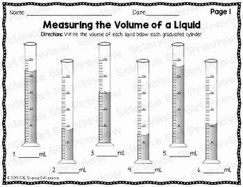 Reading Graduated Cylinders Worksheet Beautiful Graduated Cylinders Measuring the Volume Of A Liquid