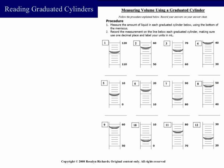 Reading Graduated Cylinders Worksheet Luxury Measurement Volume Bst2009