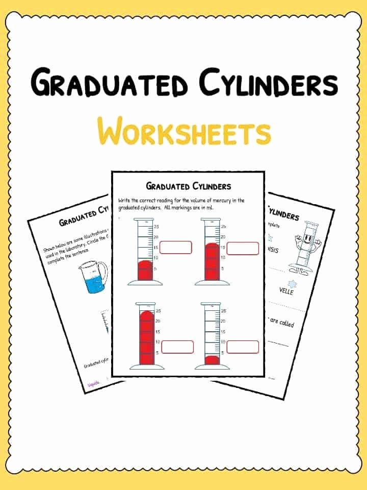 Reading Graduated Cylinders Worksheet Unique Graduated Cylinders Worksheet