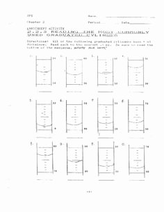 Reading Graduated Cylinders Worksheet Unique Motion Test for Middle School Science Speed Acceleration