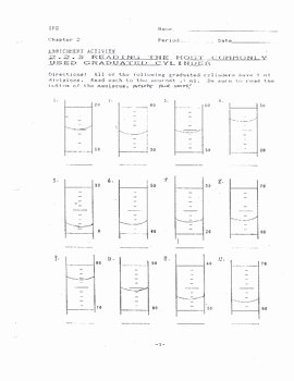 Reading Graduated Cylinders Worksheet Unique Reading Graduated Cylinders Worksheet 1