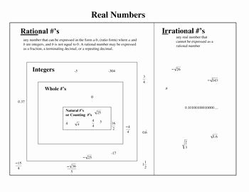Real Number System Worksheet Luxury Real Numbers Venn Diagram Math