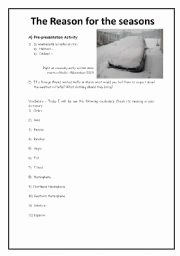 Reasons for Seasons Worksheet Inspirational English Teaching Worksheets Seasons