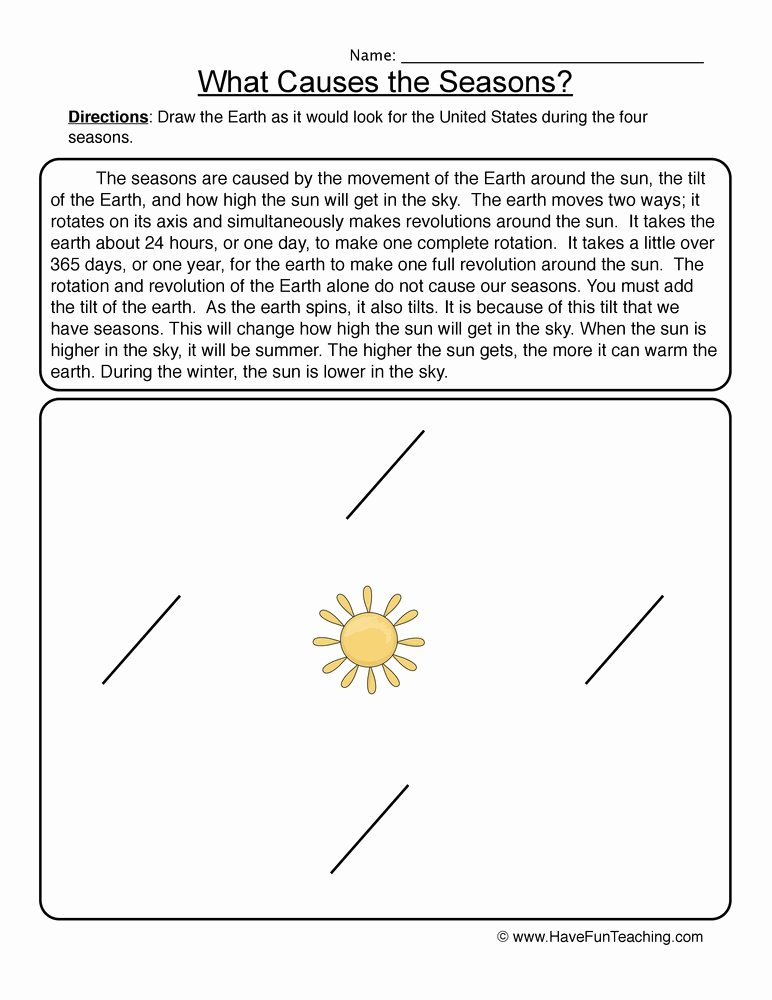 Reasons for Seasons Worksheet Inspirational Space Worksheets Page 2 Of 3