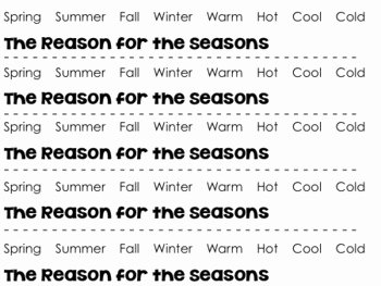 Reasons for Seasons Worksheet Unique Reason for the Seasons Earth S Tilt Activity Craft by