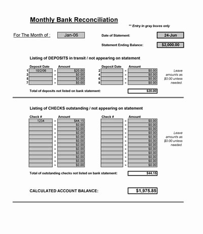 Reconciling A Bank Statement Worksheet Best Of Bank Reconciliation Spreadsheet Microsoft Excel