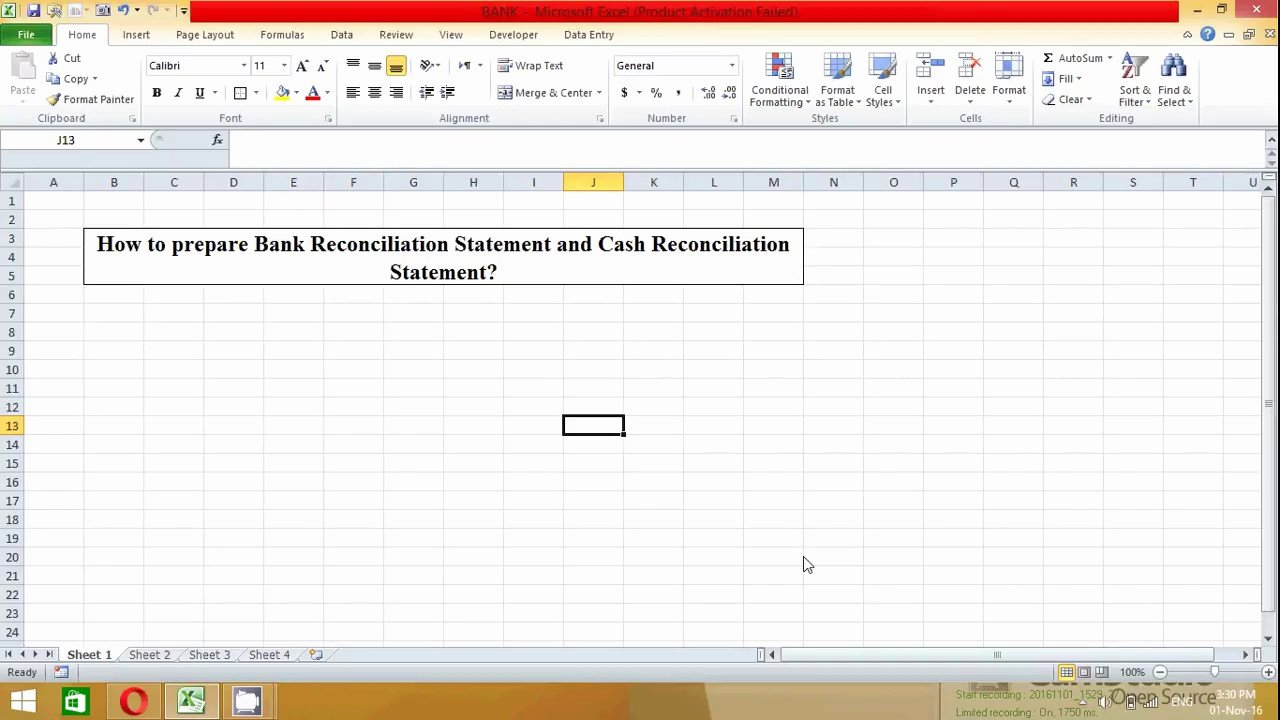 Reconciling A Bank Statement Worksheet Best Of How to Prepare Bank Reconciliation Statement In Excel