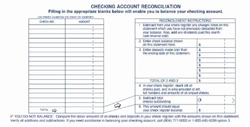 Reconciling A Bank Statement Worksheet Best Of Printable Checking Account Balance Sheet