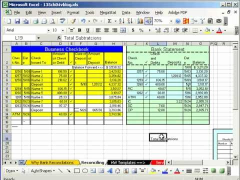 Reconciling A Bank Statement Worksheet Inspirational Excel Busn Math 37 Bank Reconciliation