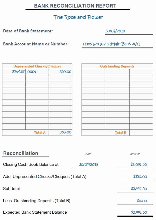 Reconciling A Bank Statement Worksheet Lovely Bank Reconciliation Exercises and Answers Free Downloads