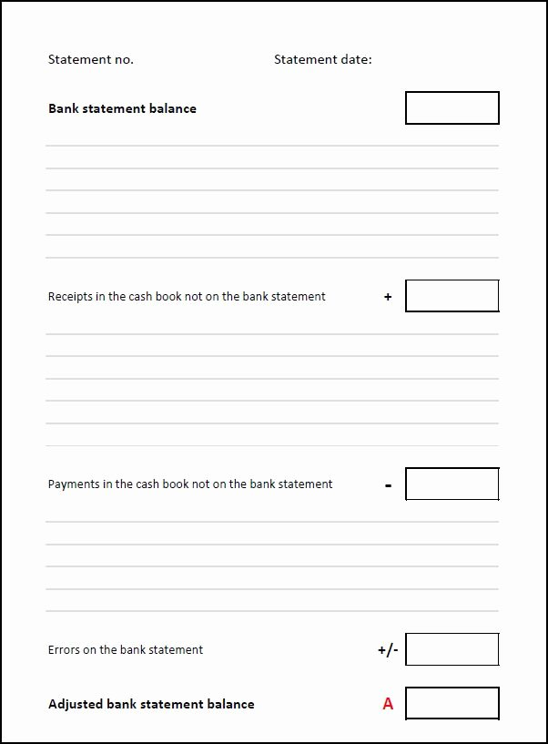 Reconciling A Bank Statement Worksheet Lovely Bank Reconciliation Template
