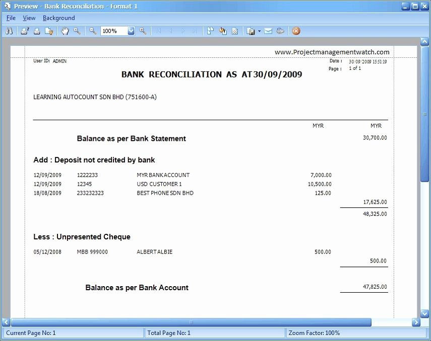 Reconciling A Bank Statement Worksheet Unique Bank Reconciliation Statement Templates In Excel