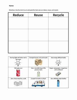 Reduce Reuse Recycle Worksheet Best Of Reduce Reuse and Recycle sorting by Mrs Nick K to 4