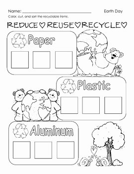 Reduce Reuse Recycle Worksheet Best Of Reduce Reuse Recycle Worksheet by Beth Reid