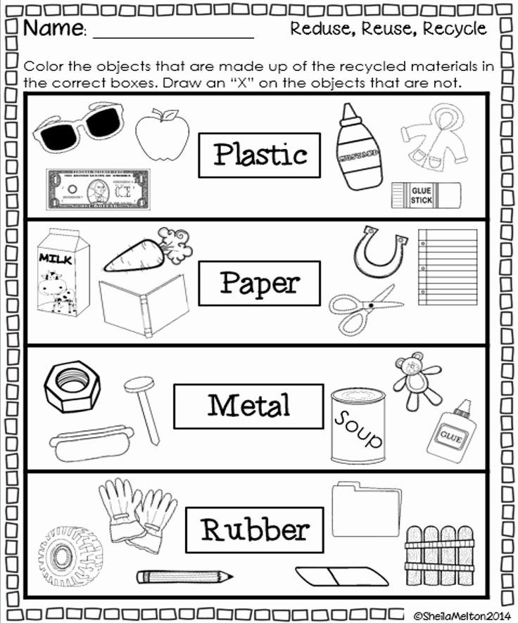 Reduce Reuse Recycle Worksheet Elegant 5 Best Of What Can We Recycle Worksheet Reduce