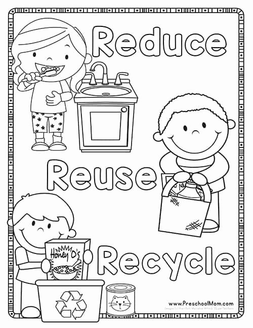 Reduce Reuse Recycle Worksheet Elegant Earth Day Preschool Printables Preschool Mom
