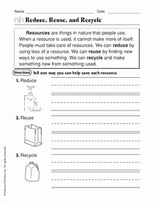 Reduce Reuse Recycle Worksheet Elegant Reduce Reuse Recycle Worksheet for 2nd 3rd Grade