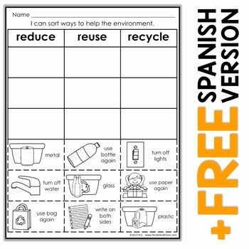 Reduce Reuse Recycle Worksheet Inspirational 24 Of Recycle Letter Printables Template
