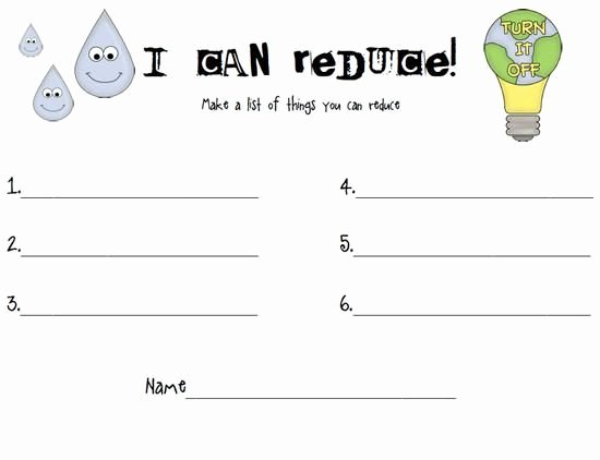 Reduce Reuse Recycle Worksheet Inspirational Reduce Reuse Recycle Earth Day Activity