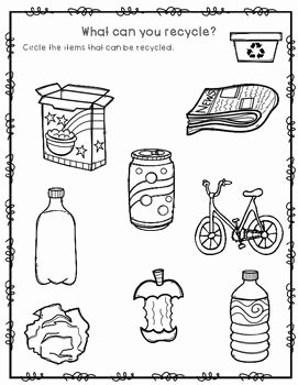 Reduce Reuse Recycle Worksheet Inspirational What Can You Recycle Worksheet Freebie