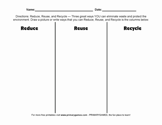 Reduce Reuse Recycle Worksheet Lovely Earth Day Worksheets Reduce Reuse Recycle