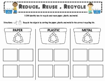 Reduce Reuse Recycle Worksheet New Recycling Reduce Reuse Recycle by Simply Vee