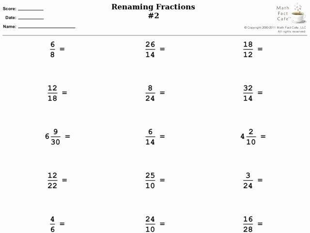 Reducing Fractions Worksheet Pdf Best Of Renaming Fractions Reducing Fractions Improper Fractions