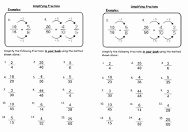 Reducing Fractions Worksheet Pdf Lovely Simplifying Fractions by Deechadwick