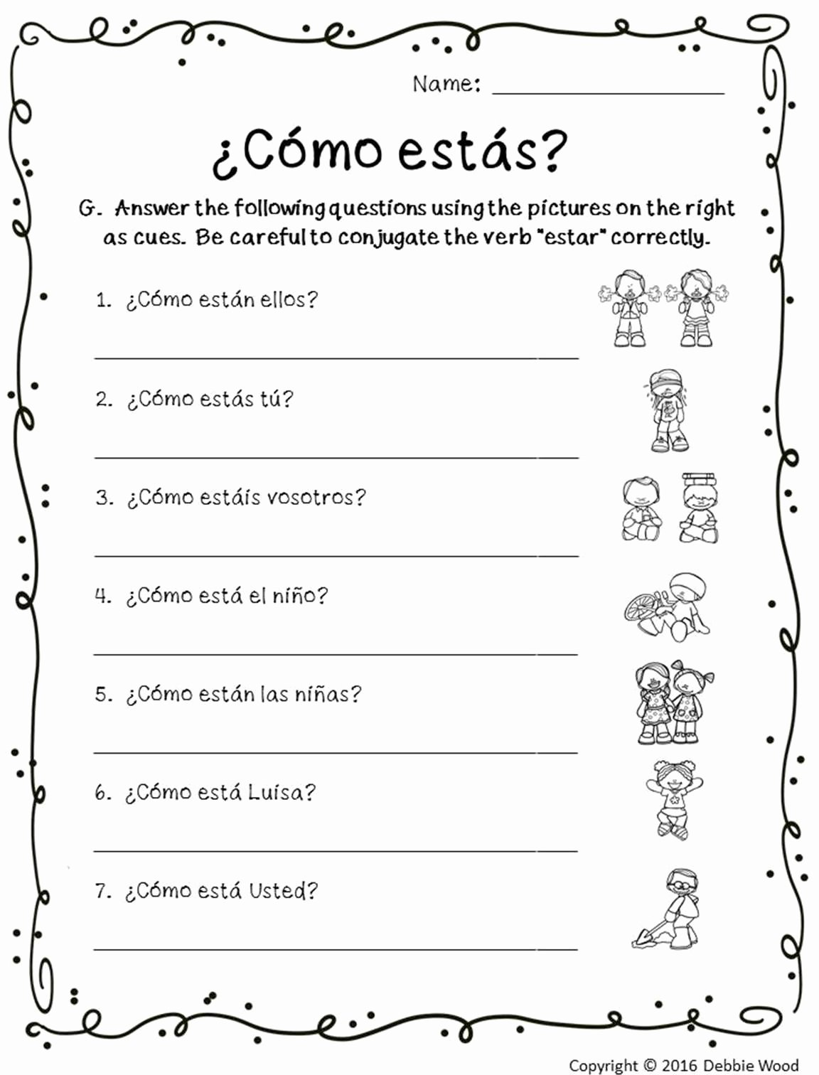 Reflexive Verbs Spanish Worksheet Inspirational Spanish Reflexive Verb Worksheet