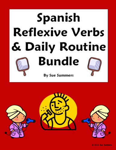 Reflexive Verbs Spanish Worksheet Lovely Spanish Adjectives Of People Packet Vocabulary Practice