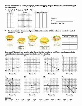 Relations and Functions Worksheet Elegant Holt Algebra 4 2 Relations and Functions Worksheet Doc