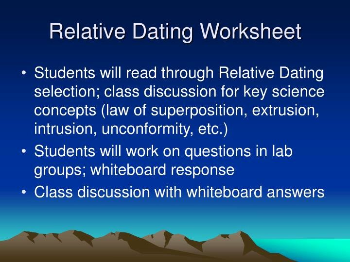 Relative Dating Worksheet Answer Key Inspirational Ppt Earth's History In Geologic Time Powerpoint