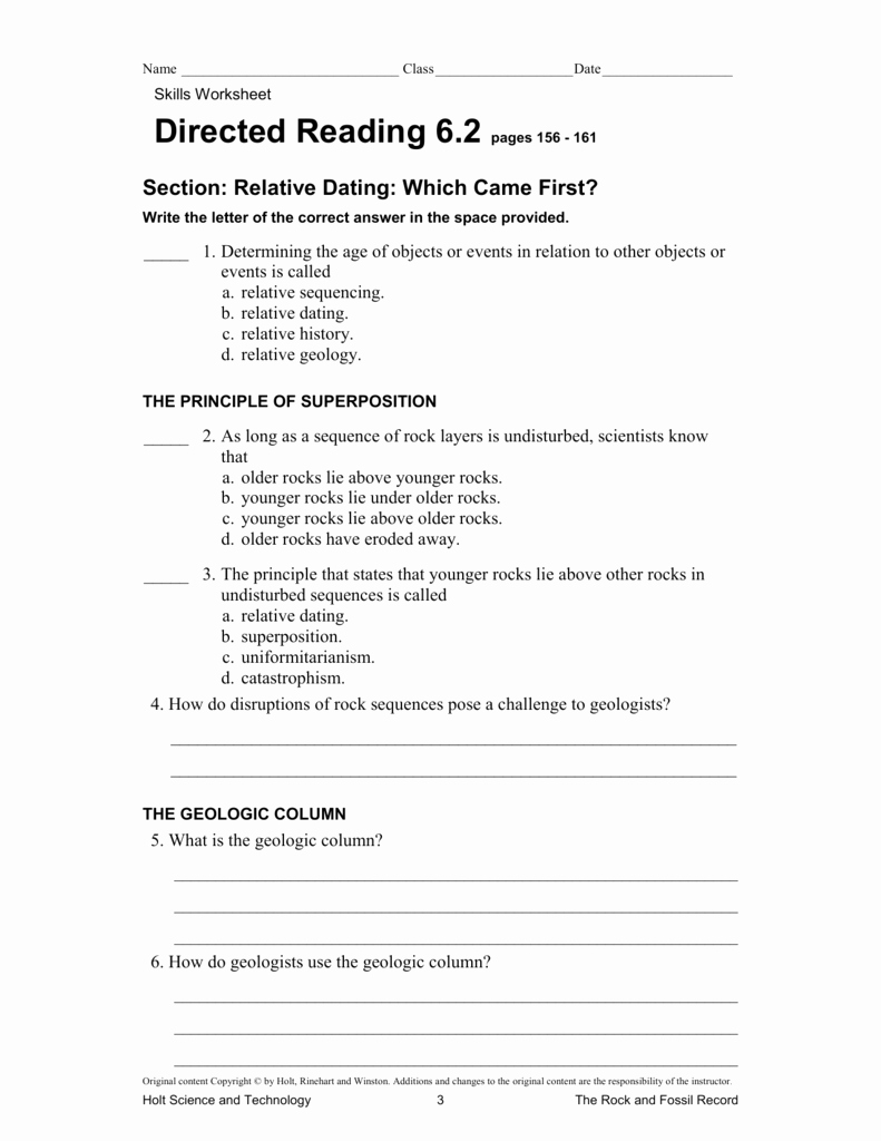 50 Relative Dating Worksheet Answer Key | Chessmuseum ...