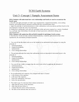 Relative Dating Worksheet Answer Key Unique Relative Dating Worksheet 1