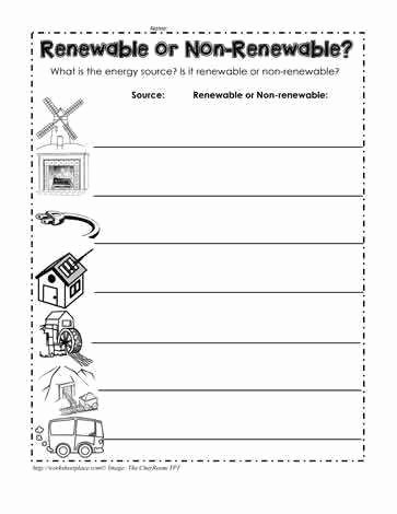 Renewable and Nonrenewable Resources Worksheet Awesome Renewable and Nonrenewable Resources Worksheet