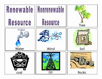 Renewable and Nonrenewable Resources Worksheet Fresh Natural Resource Card sort by Jennifer Rudolphy