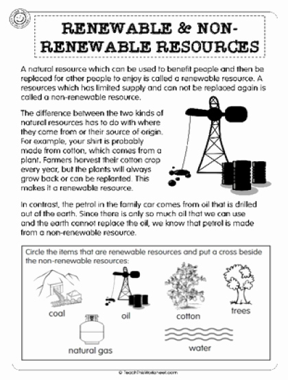 Renewable and Nonrenewable Resources Worksheet Inspirational Teach This Worksheets Create and Customise Your Own